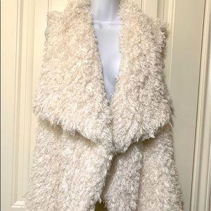 Sweaters - Miss ❤️ Fuzzy Ivory Sweater Vest